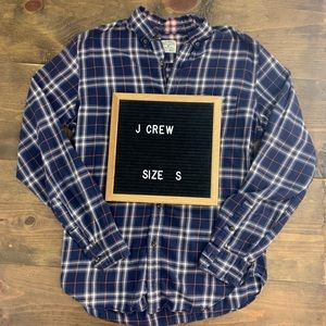 J.Crew Work Shirt 100% Cotton Flannel